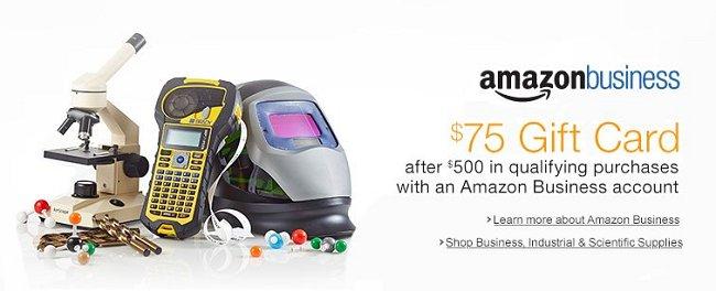 Amazon Business 75 Gift Card Bonus Rewards Amp Credit Cards